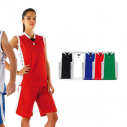 Basketball shirt without sleeves - For women - 100% polyester