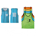 Set of 10 polyester training bibs - With numbers