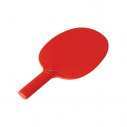Plastic table tennis bat - Red