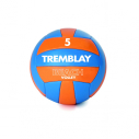 PVC beach volleyball - size 5 - 265/285 gr - blue/orange