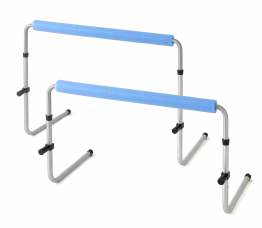 Aluminium Bounce back hurdle - 76 x 40 x 60 cm- Set of 3 - with heigh