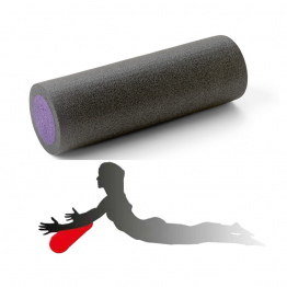 EPE Yoga roller - 90 x 15 cm - Black/purple
